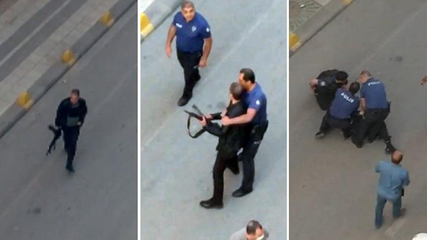 Terrifying moments! Police neutralize rifle attacker like this